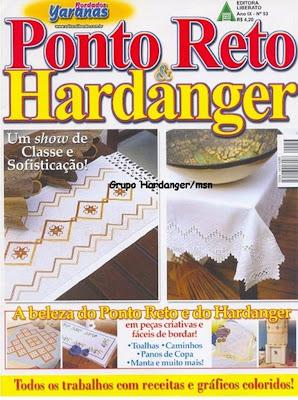 Capa Ponto reto & Hardanger