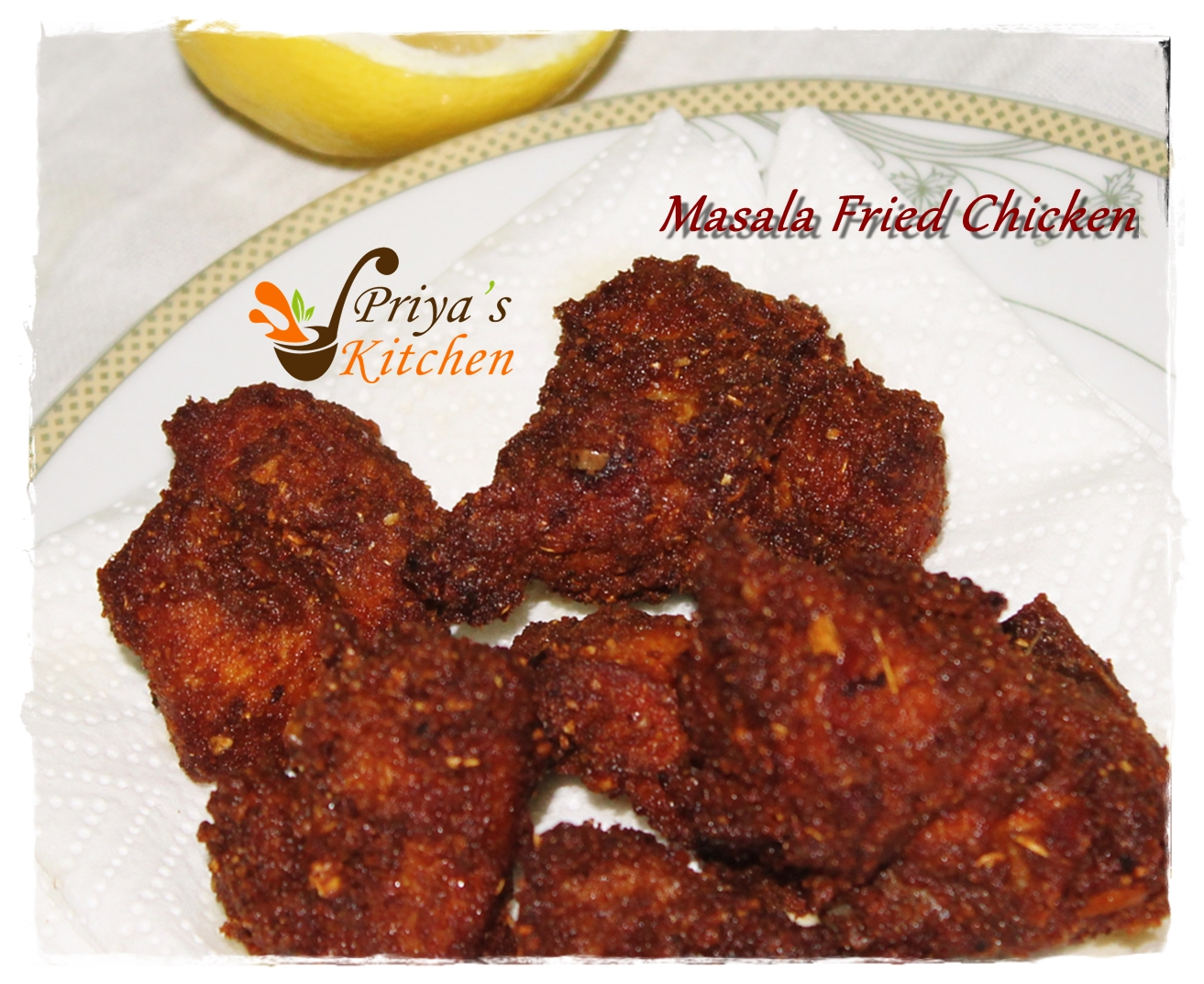 how to make chicken fry masala