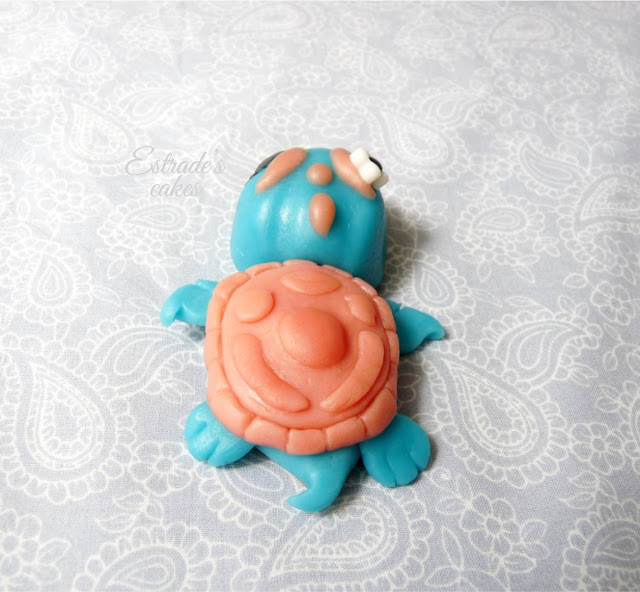 tortuga modelaje chocolate plástico blanco - 2