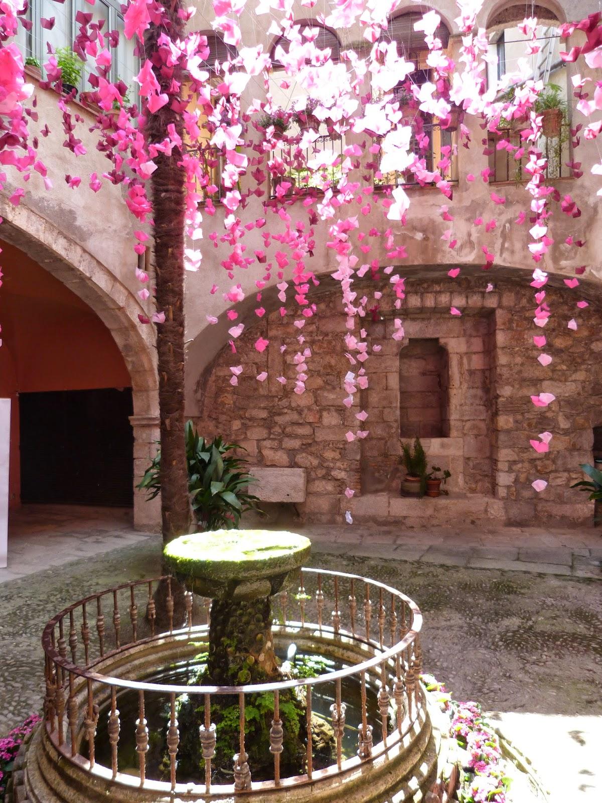 Innenhof Spanischer Häuser barcelona catalunya und lucia