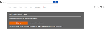 Verifikasi Blog ke Bing Webmaster Tools