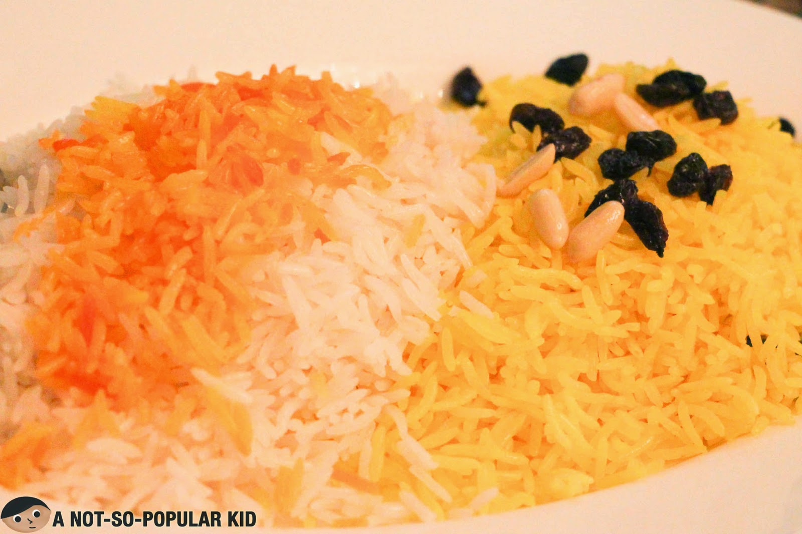 The rice platter that goes along with the Arya Sini Kamel platter