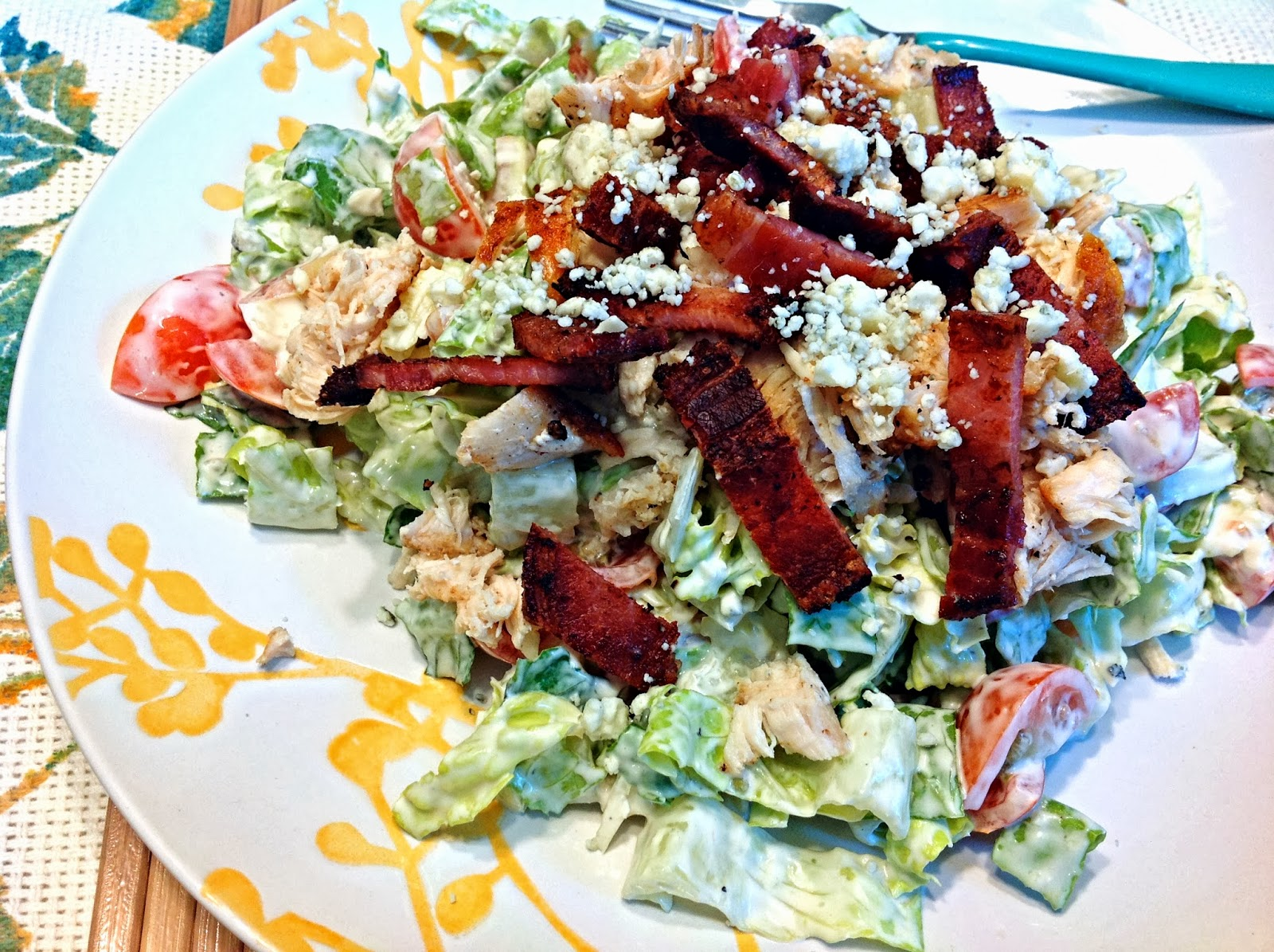 the dog mom: blt chopped salad with perfect blue cheese dressing