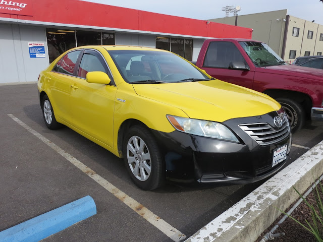 Camry Hybrid repainted as Taxi Cab at Almost Everything Auto Body
