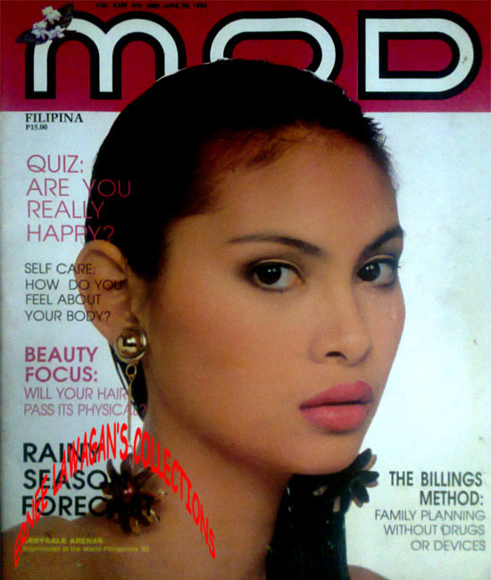 lala montelibano featured in late 1980s pocket calendars