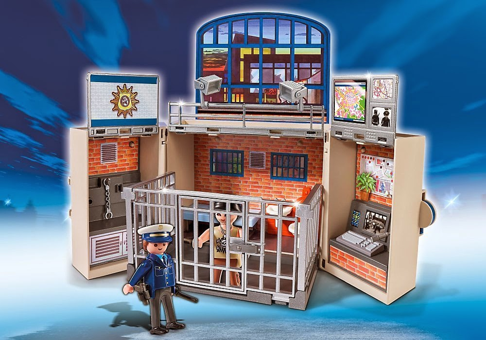 TOYS - PLAYMOBIL City Action - 5421 Cofre Cuartel de Policía  Juguete Oficial | A partir de 4 años