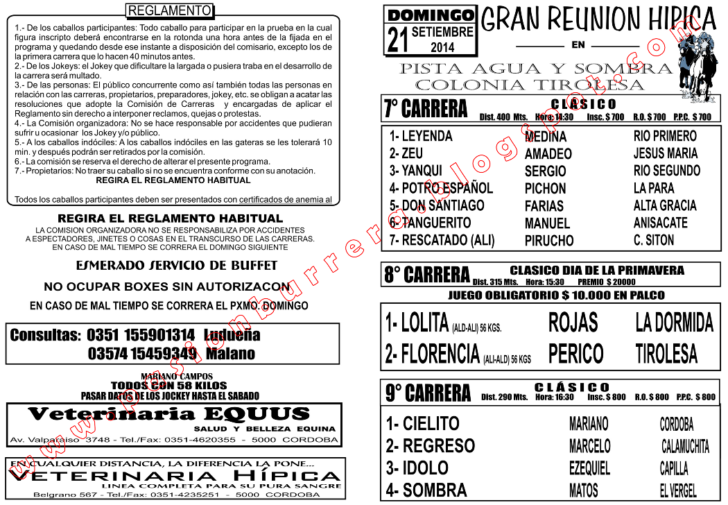 PROGRAMA - TIROLESA - TAPA