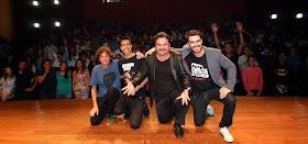 Com Fábio Silvestre, Diego Baro e Kim Archetti