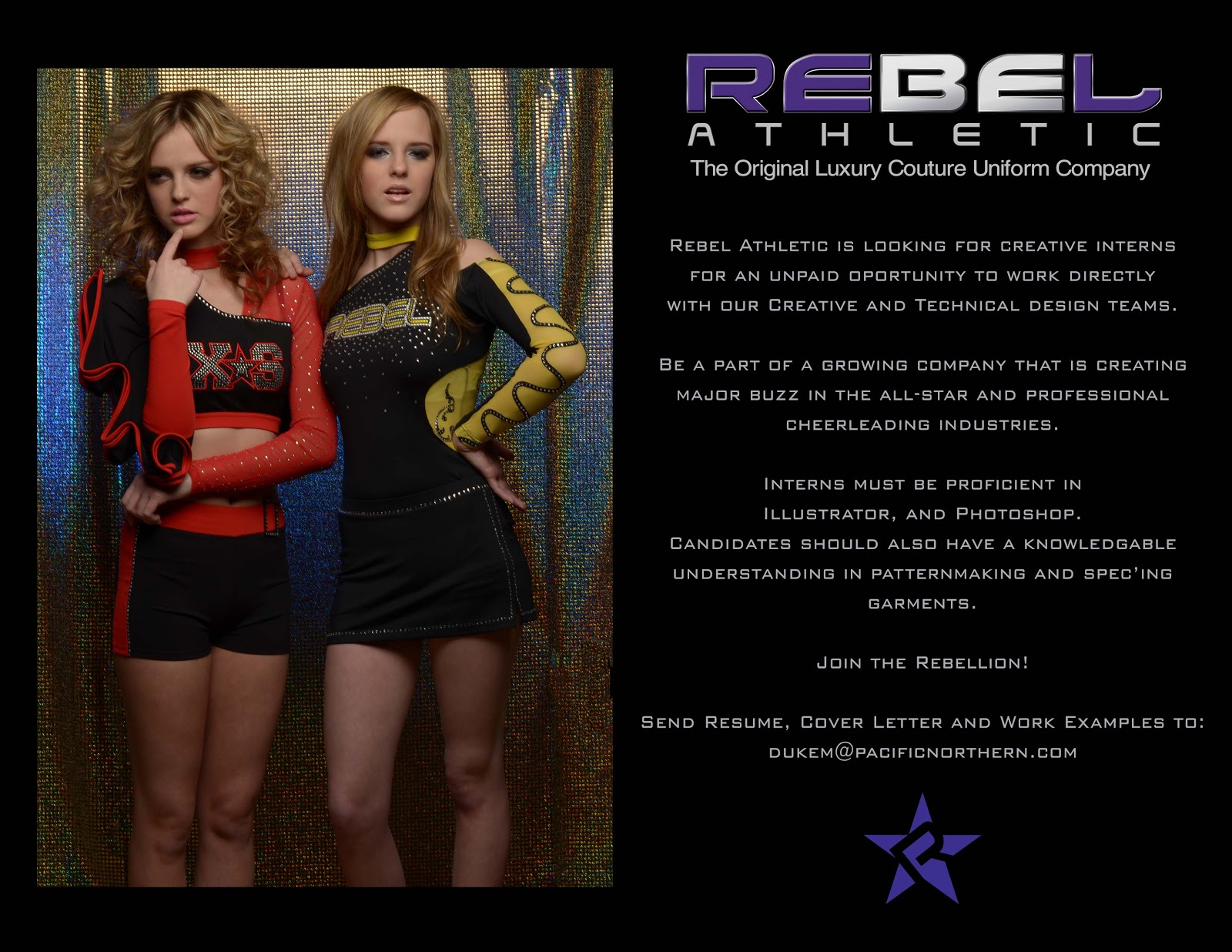 fashion design blog  internship opportunity at rebel athletic