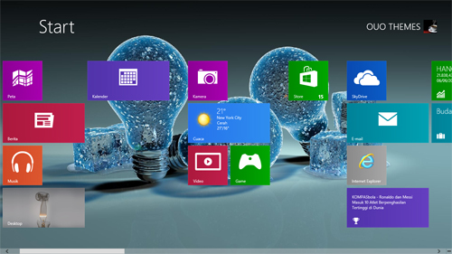 Light Bulb Theme For Windows 7 And 8