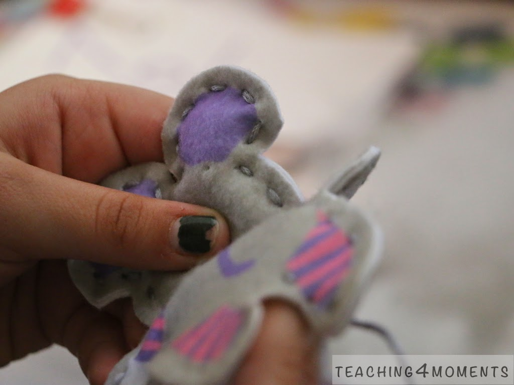Teaching 4 Moments easy sewing project for kids