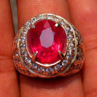 jual cincin batu permata natural ruby asli merah delima harga murah