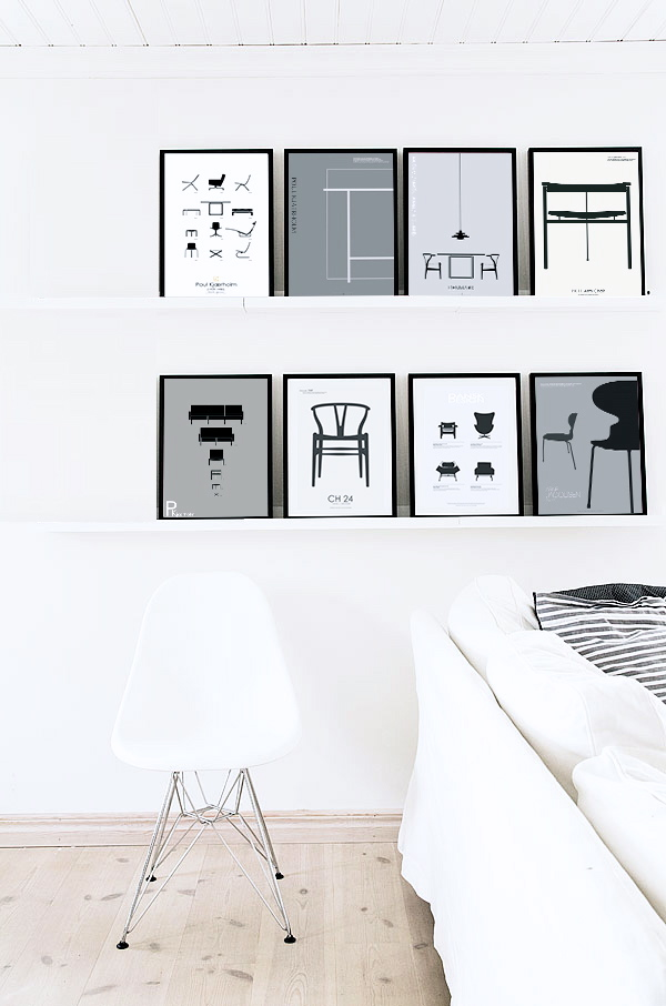 Design love pk copenhagen posters nordic days by flor for Danish design meubels