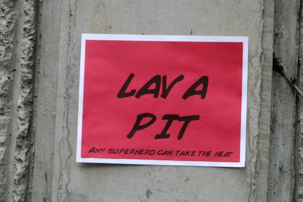 superhero party lava pit game activity