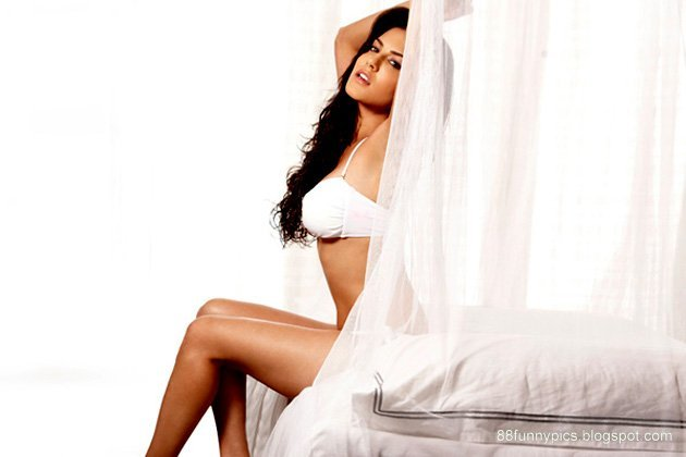 sunny leone in white dress very beautiful.