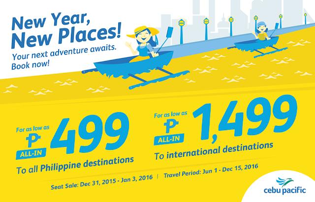 Cebu Pacific Seat Sale Promo 2016
