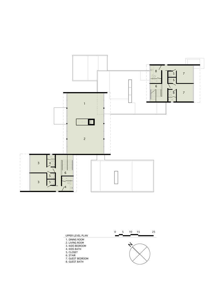 First floor plan of Sam's Creek Home by Bates Masi Architects