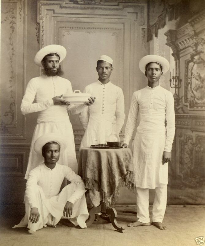 Group Photograph of House Servants - Late 19th Century