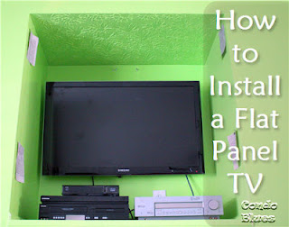 how to install a flat panel TV