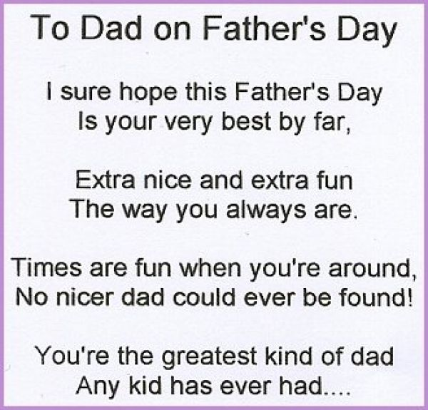Happy father day poems