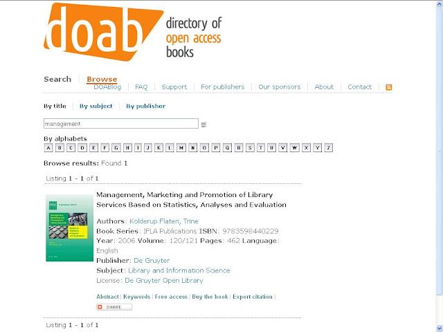 http://www.doabooks.org/doab