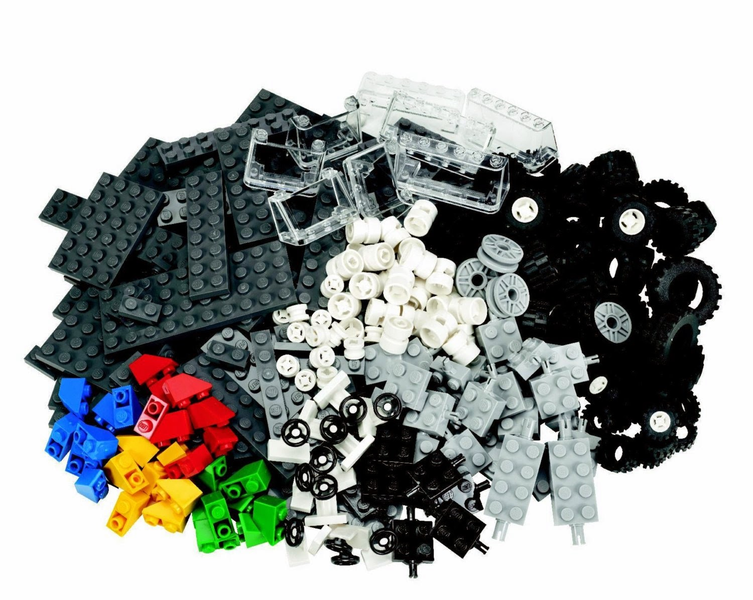 Lego wheels and parts set