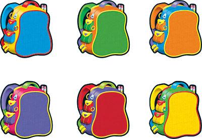 Desenho de mochilas colorido
