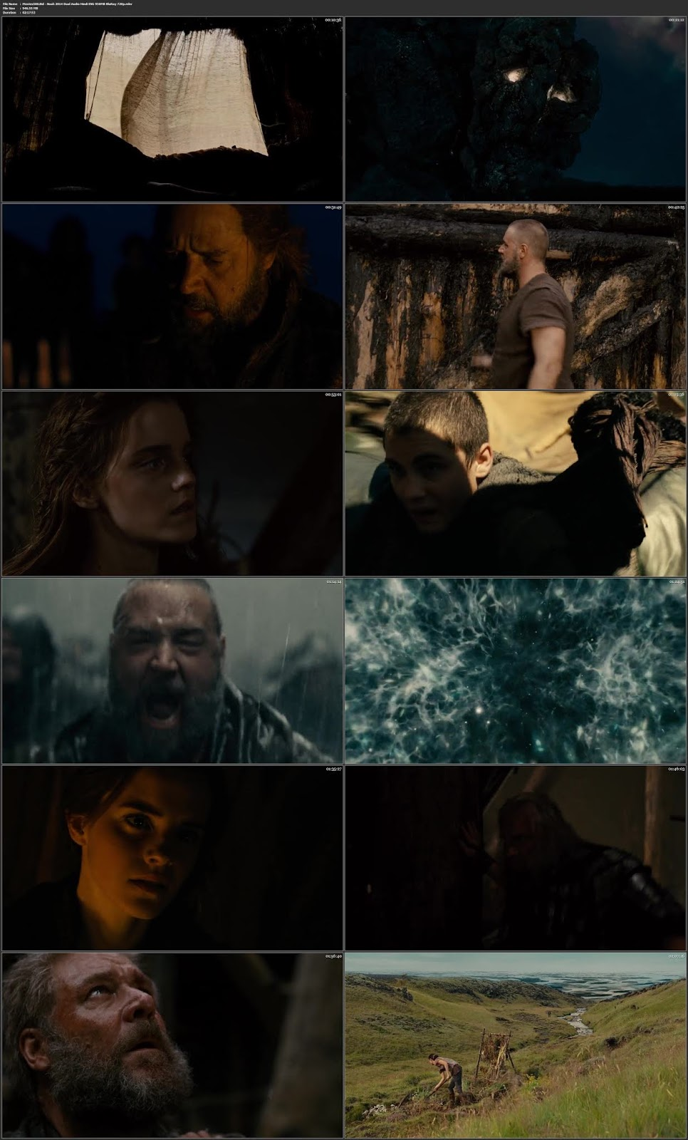 Noah 2014 Dual Audio Hindi ENG BluRay 720p 900MB