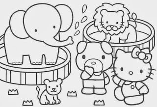 Hello Kitty for Coloring, part 1