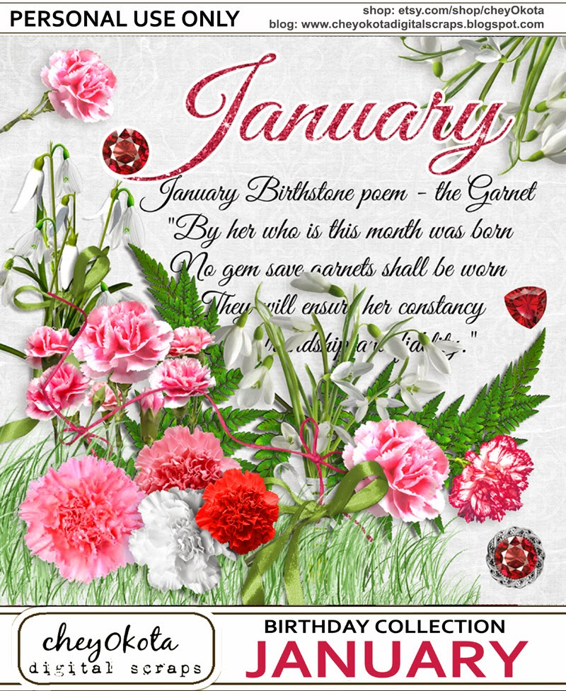 January Birth Month Flower Related Keywords & Suggestions ...