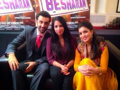 Ranbir, Rishi, Neetu, Pallavi at Besharam promotion in London