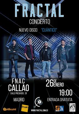 Fractal Fnac Callao Madrid 26 de Enero.