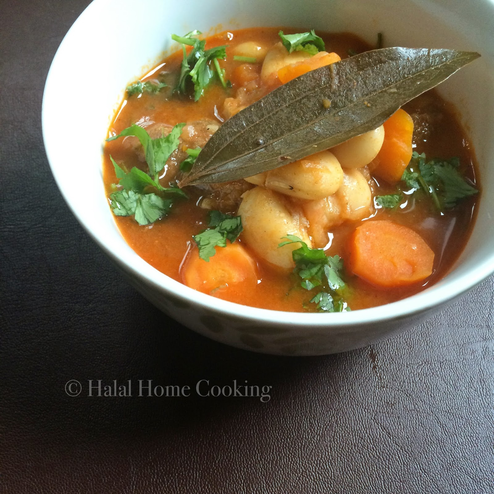 algerian loubia b'lham - white bean & lamb soup recipe