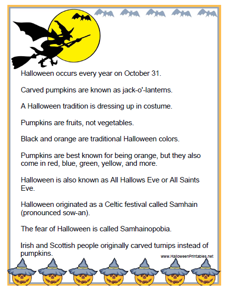 Shake your English!: Some fun facts about Halloween