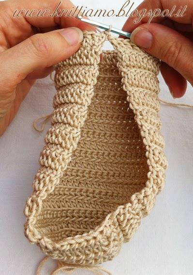 come fare scarpe in cotone per bambina