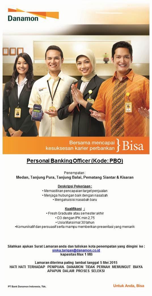 Lowongan kerja resmi Bank Danamon