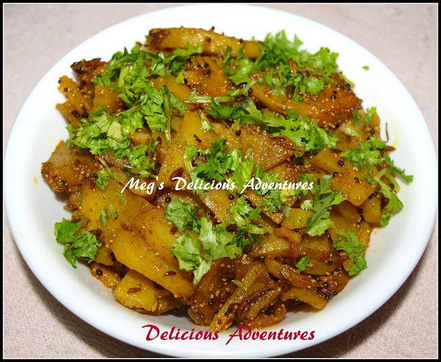 Aloo Sabzi(Potato stir fry with poppy and fennel seeds)