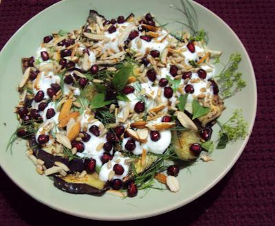 Grilled Eggplant salad...