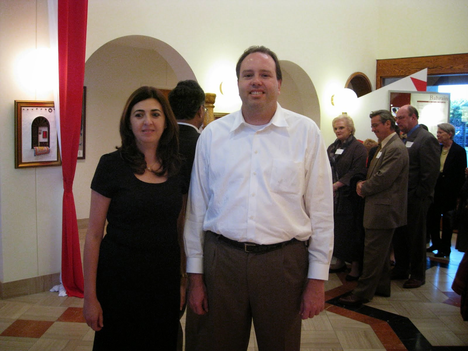 Ralph Winnie Jr. With the Ambassador of Bahrain, October 2009
