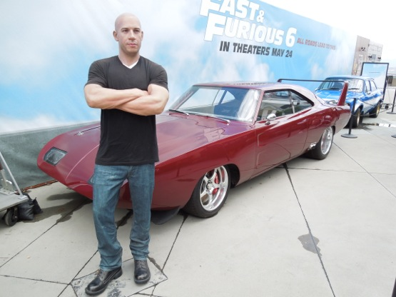 Vin Diesel waxwork Fast Furious 6 movie cars