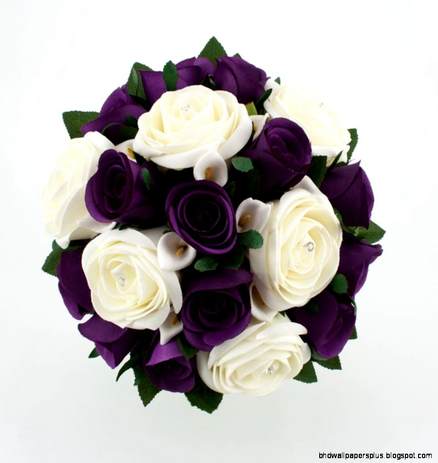 wedding flowers purple and white   The Various Purple Wedding