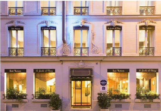 Where we stayed what we ate paris the vivienne files for Best western le jardin de cluny paris