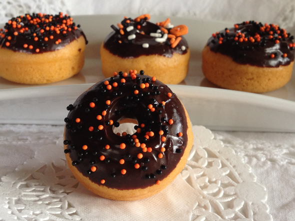 mini pumpkin donuts miam des biscuits. Black Bedroom Furniture Sets. Home Design Ideas