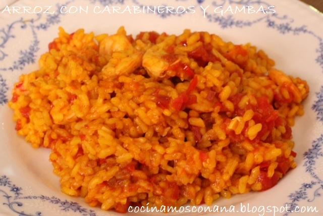 Hoy me apetece cocinar arroz con carabineros y gambas for Cocinar 6 tipos de arroz