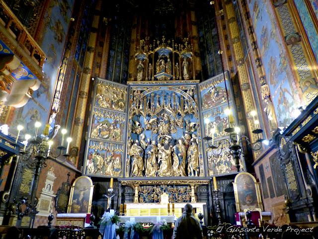 Interior de la Basílica de Santa María - Cracovia, por El Guisante Verde Project