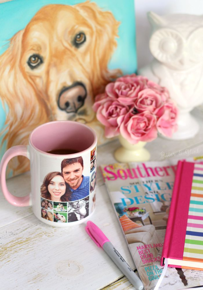 Personalize Your Morning Cup of Coffee with a Shutterfly Photo Mug--Giveaway and free quote graphic in post! |sponsored| pitterandglink.com