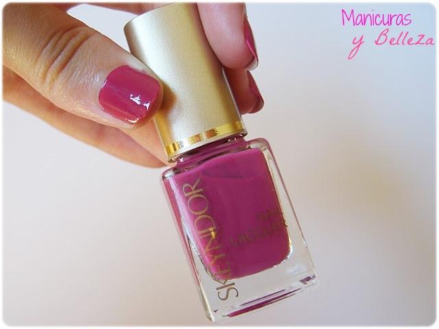 Usalo Ya esmalte 45 Skeyndor placa estampación Pueen nail art manicura fácil