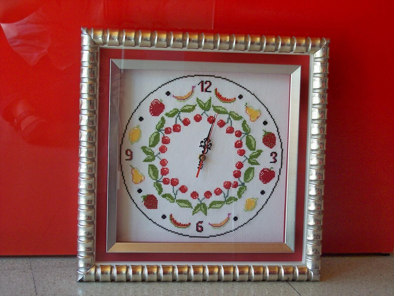 Mis Cuadros: Como enmarcar relojes enmarcados a punto de cruz