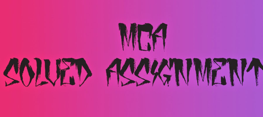 Mca assignment