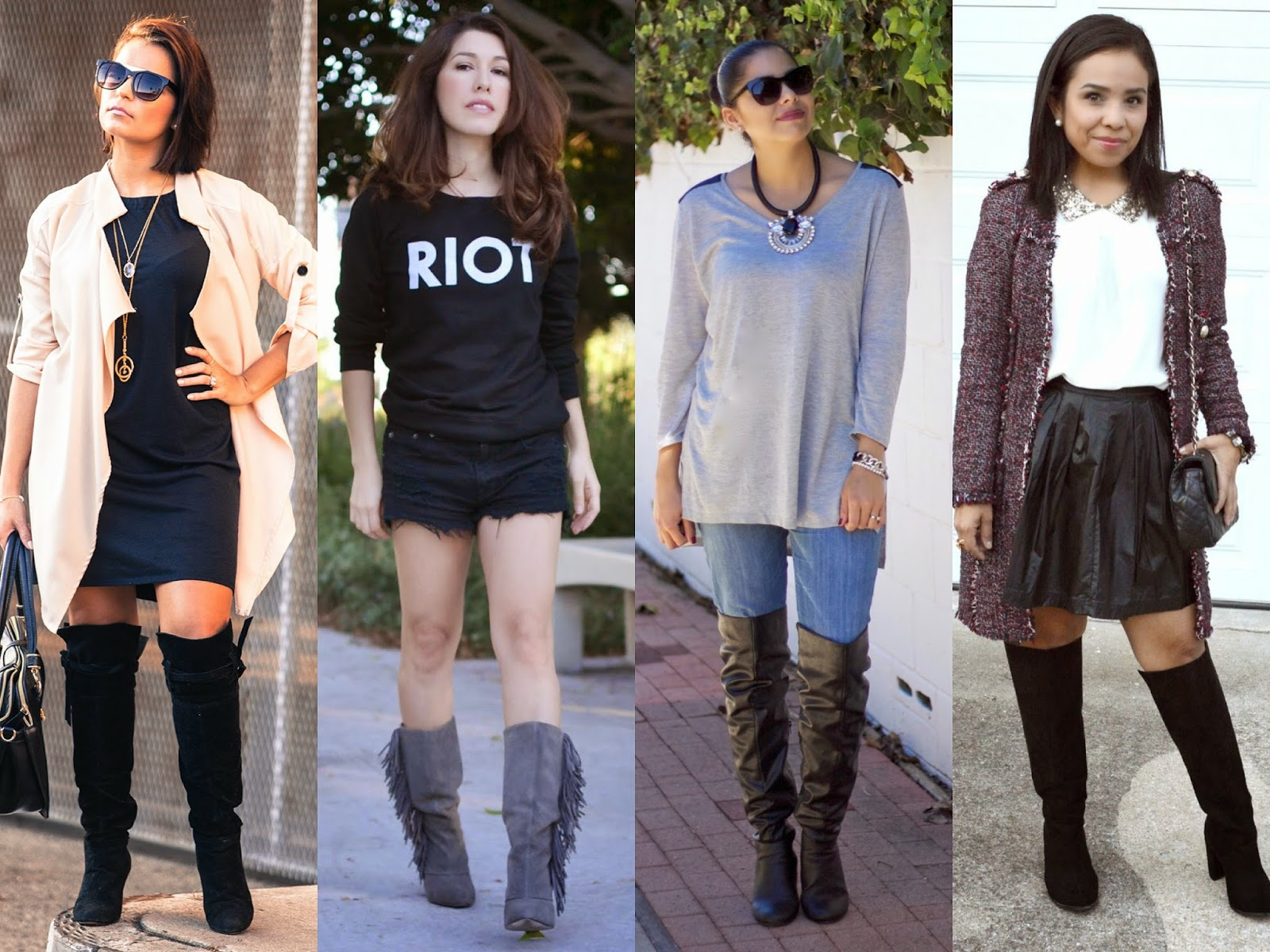 Blogger boot collaboration, blogger collaboration, how to wear boots 2014, how to style boots 2014, how to style boots, how to wear boots this Fall, how to wear boots this winter, bloggers wear boots, four ways to wear boots, different ways to style boots